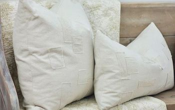 diy grain sack patch pillows