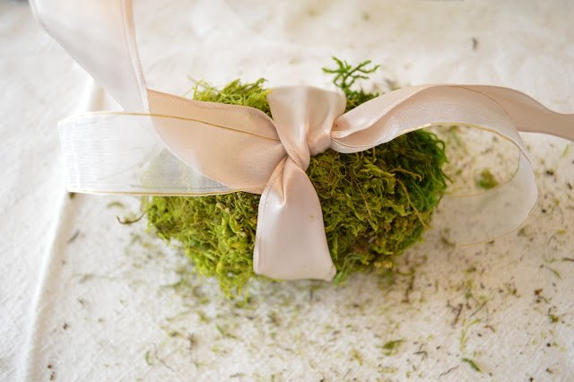 moss and faux flower egg tutorial, gardening, how to