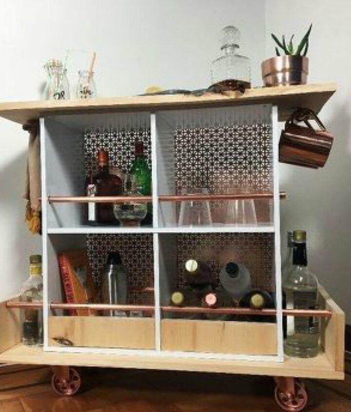 s stop everything these bookshelf redos are ah mazing, shelving ideas, storage ideas, Make a multipurpose bookshelf cart
