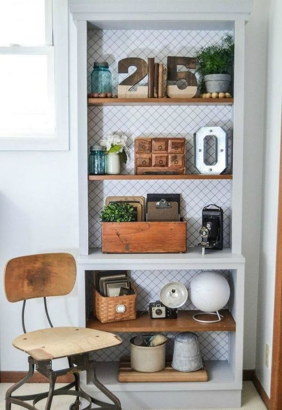 s stop everything these bookshelf redos are ah mazing, shelving ideas, storage ideas, Makeover a drab bookcase with more trim