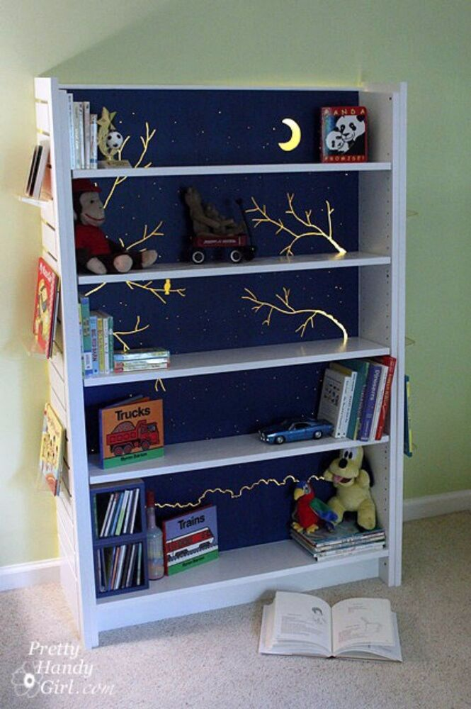 Transform Two Units Into Nightlight Bookcases