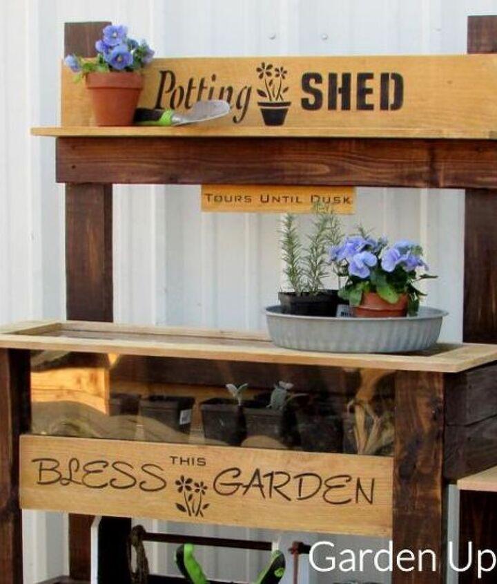diy dual purpose garden table, painted furniture
