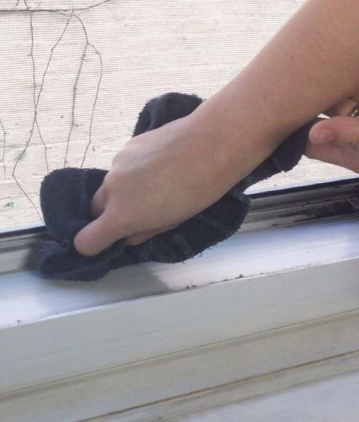 clean your window tracks, cleaning tips
