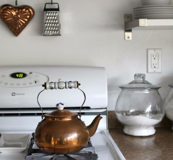 how to clean copper antique copper tea kettle, cleaning tips, how to, repurposing upcycling