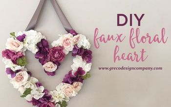 DIY Faux Floral Heart