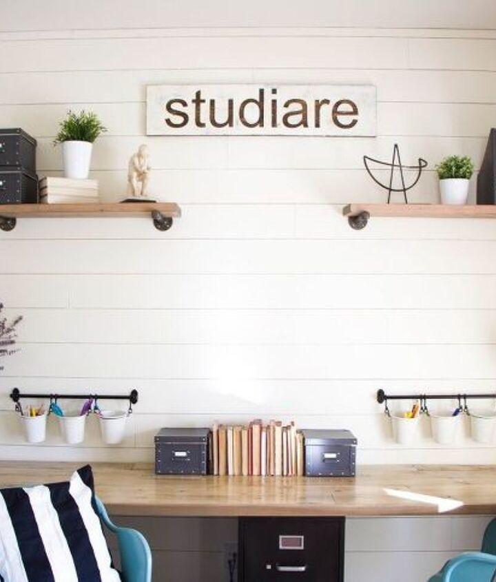 farmhouse home school room makeover, home decor