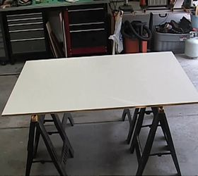 Floating Wall Mounted Corner Desk, Painted Furniture