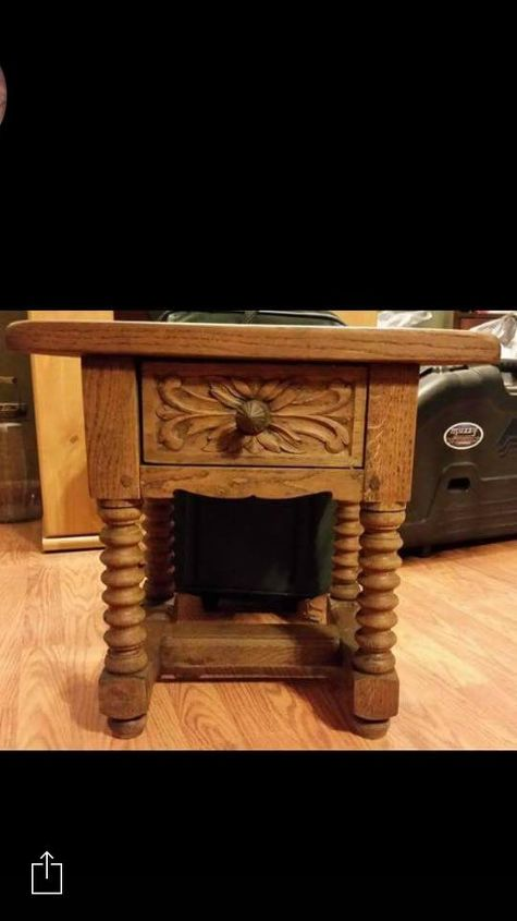 detailed oak accent table, painted furniture, woodworking projects