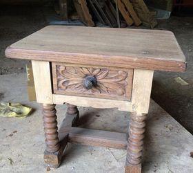 Detailed Oak Accent Table Refinish Hometalk