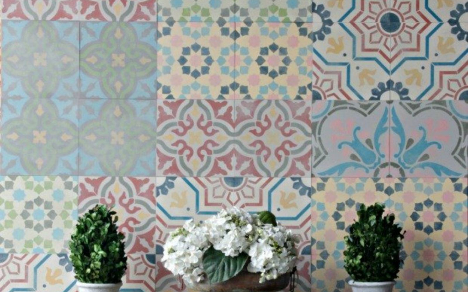s 14 stunning ways to add cement to your home decor, concrete masonry, home decor, Map it as customized tiles on your wall