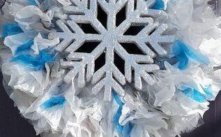 frugal diy winter wreath, crafts, wreaths