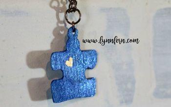 autism awareness puzzle piece charm cut with cricut