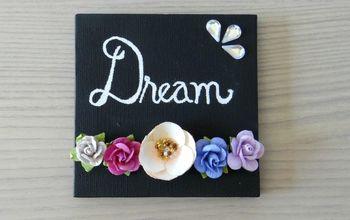 spring floral mini canvas art, crafts