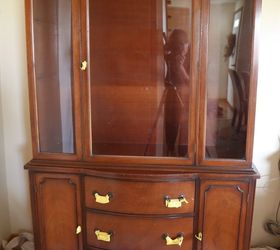 Lightly Distressed China Cabinet, Kitchen Cabinets, Kitchen Design, Painted  Furniture