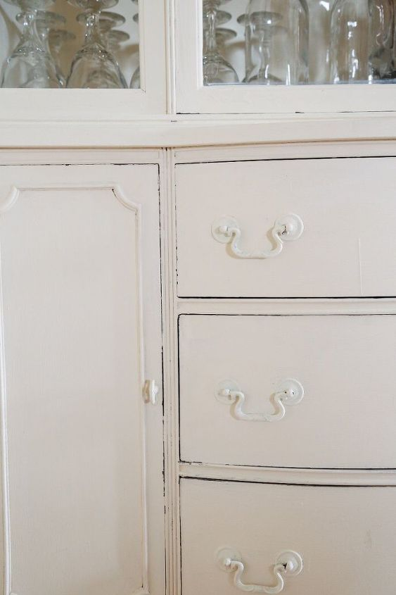 Lightly Distressed China Cabinet
