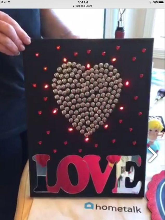 easy light up love art, crafts