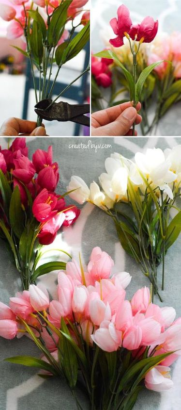 diy spring tulip wreath, crafts, wreaths