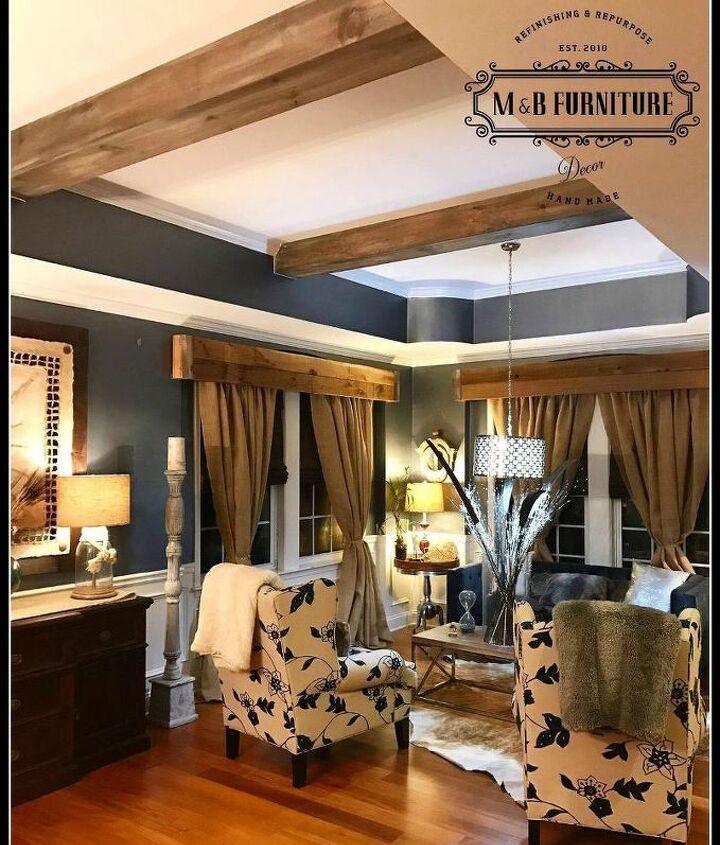 amazing faux wood beams