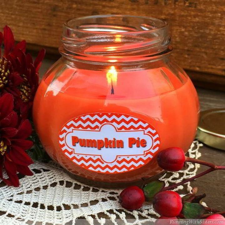 s 15 gorgeous homemade candle ideas you re going to want to try, These pumpkin pie scented candles