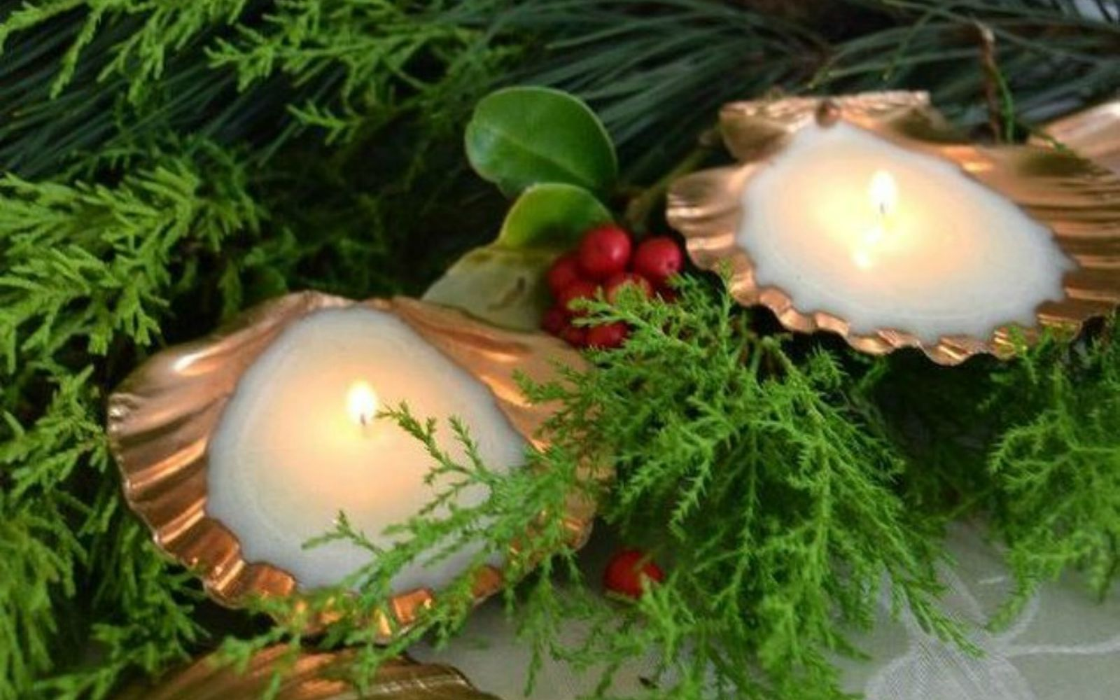 s 15 gorgeous homemade candle ideas you re going to want to try, These golden seashell candles