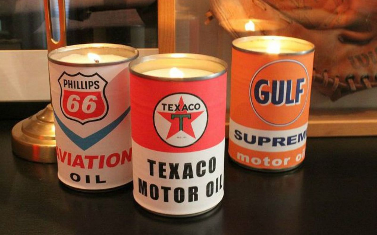 s 15 gorgeous homemade candle ideas you re going to want to try, These retro oil can candles
