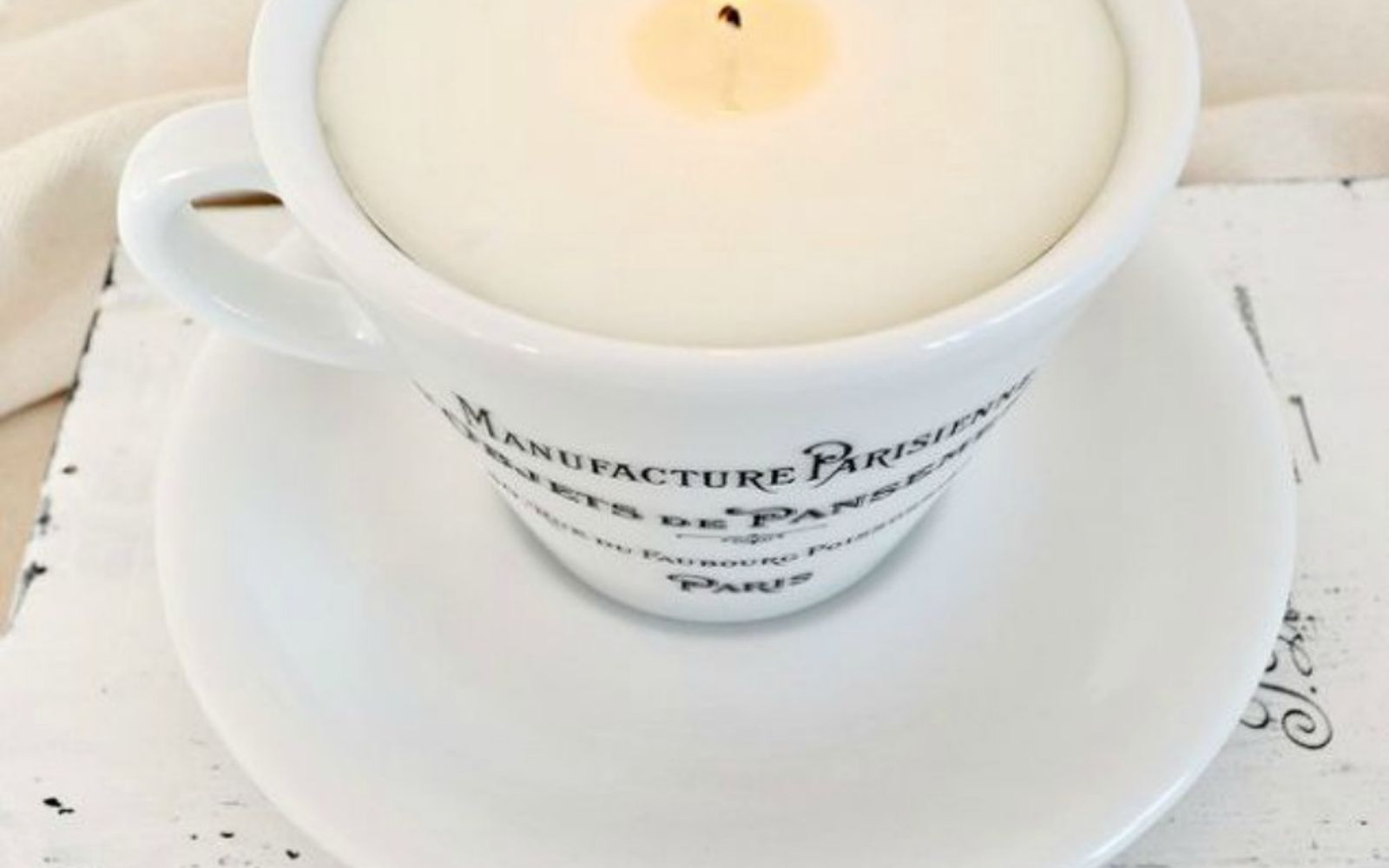 s 15 gorgeous homemade candle ideas you re going to want to try, These french teacup soy scented candles