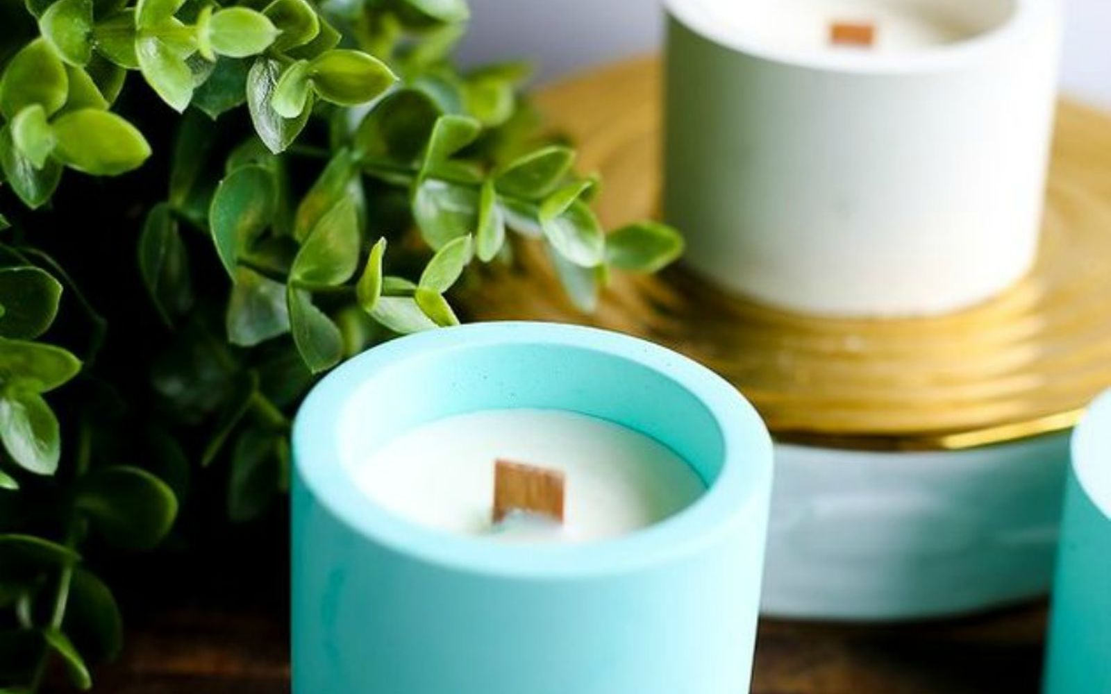 s 15 gorgeous homemade candle ideas you re going to want to try, These concrete votive stunners