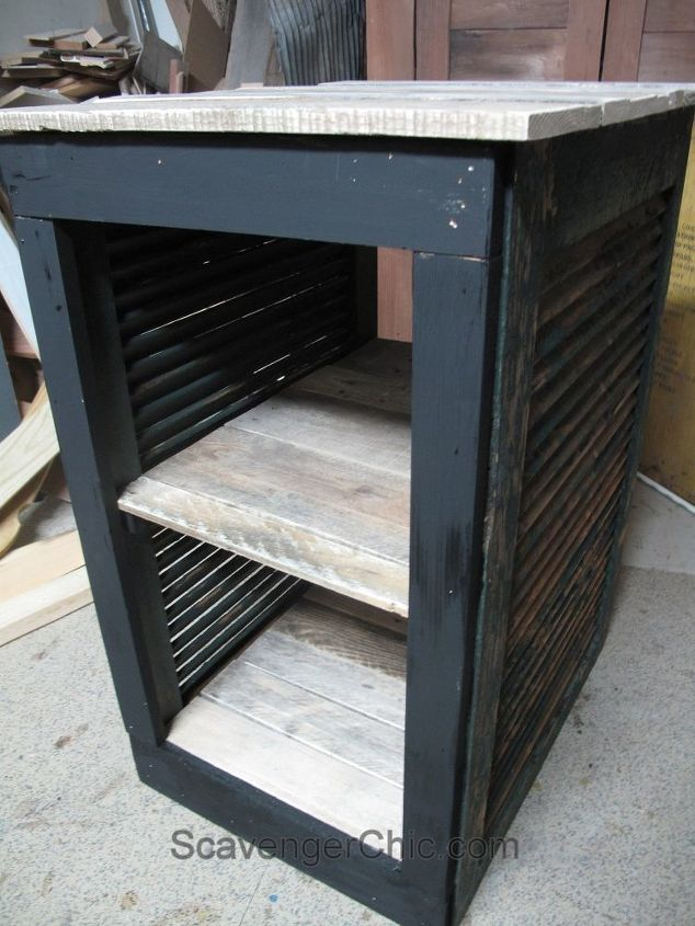 upcycled shutter bar cart serving cart, curb appeal, outdoor living