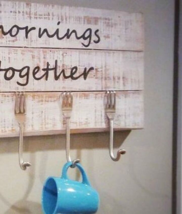 s add more kitchen space with these 13 brilliant hook hacks, kitchen design, Bend the bottom of forks hang them
