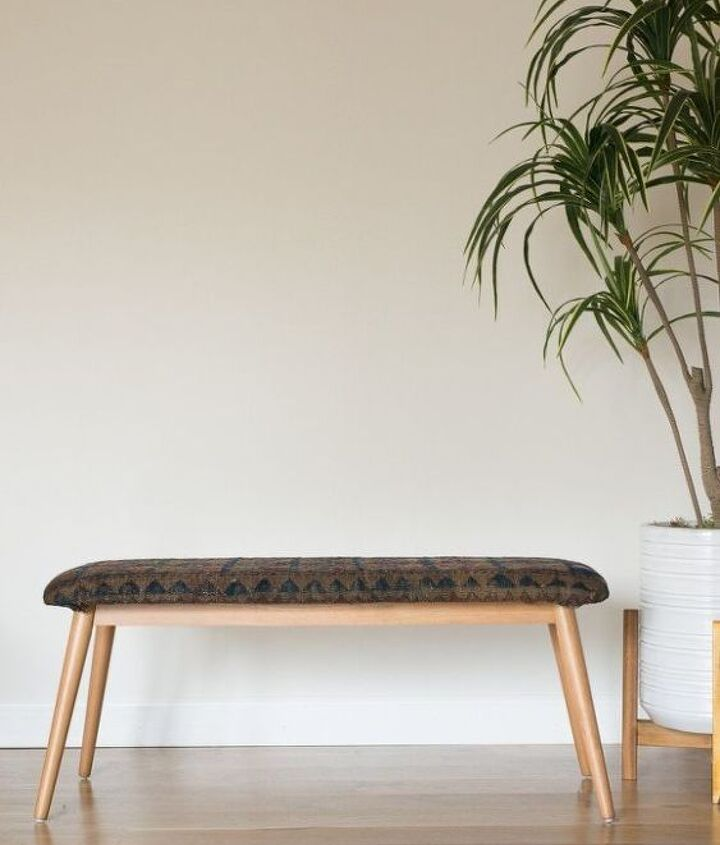 how to use an old rug to upholster a bench, how to, outdoor furniture, reupholster