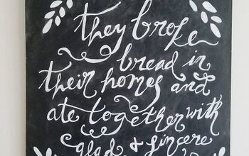 chalkboard quote art, chalkboard paint, crafts