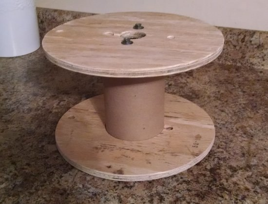 Make A Coffee Station Out Of A Small Cable Wire Spool