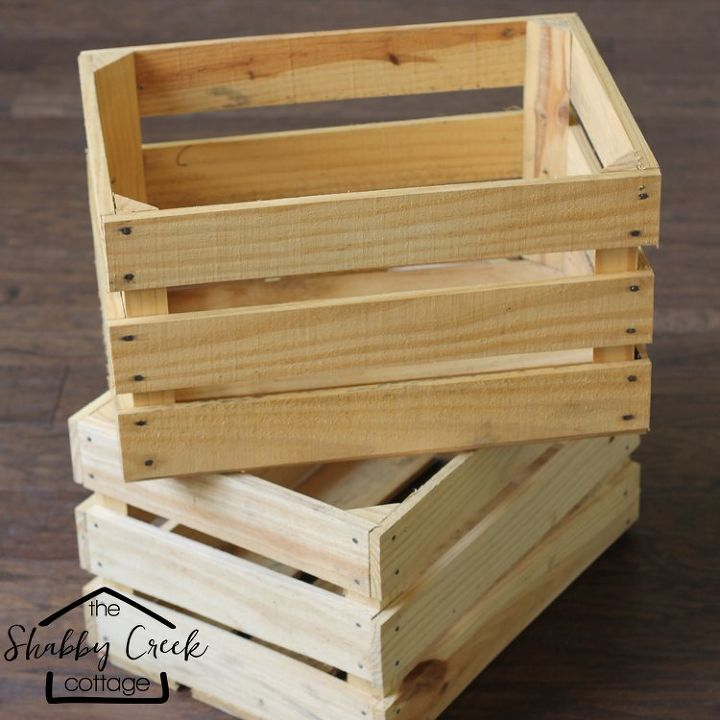 wood crate rolling cart