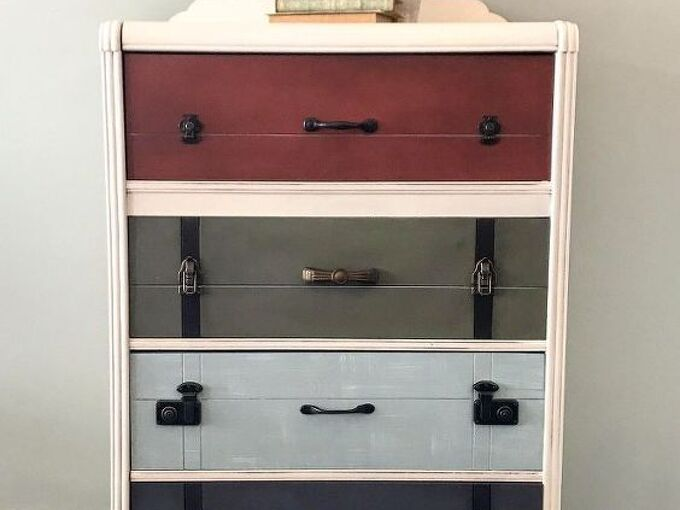 the suitcase dresser, painted furniture