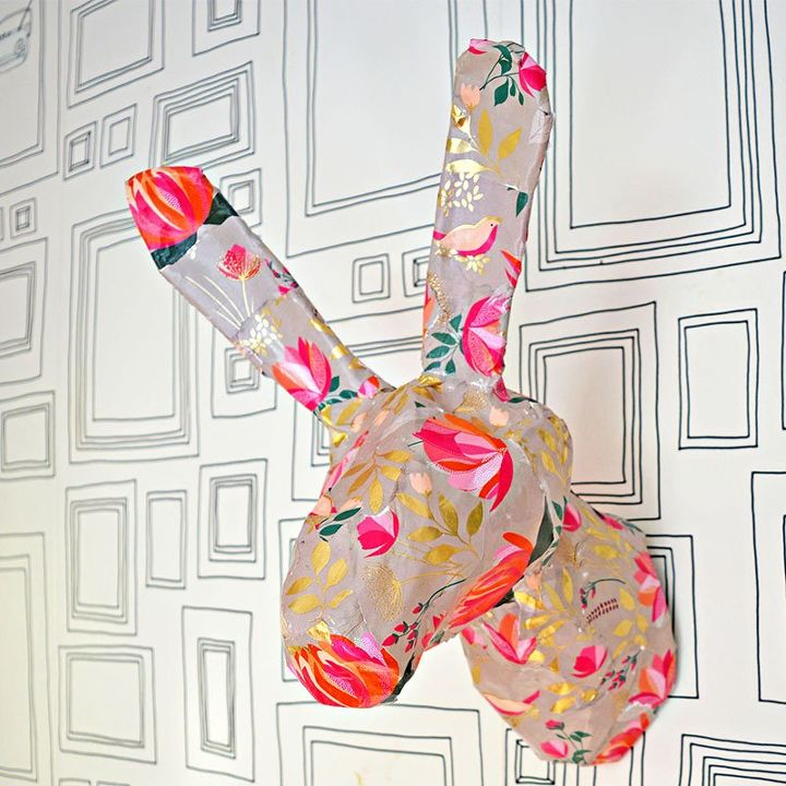 gorgeous spring wall decoration a bunny head