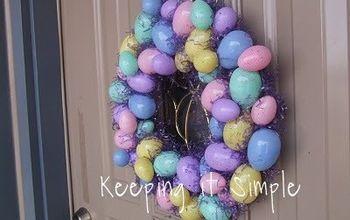 easter egg wreath, crafts, wreaths