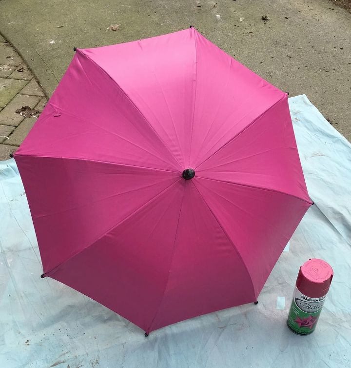 painted umbrella wreath for spring, crafts, wreaths