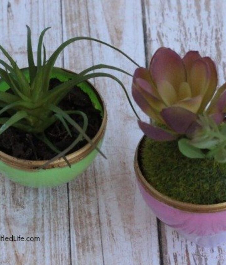 easter egg planters nearly anyone can make, gardening