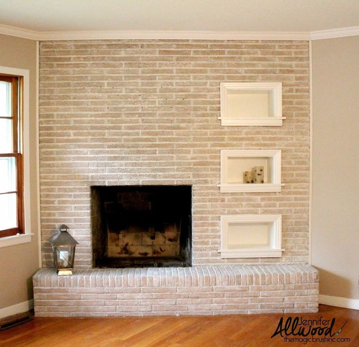 Painted brick fireplace hometalk - How to make a brick fireplace look modern ...