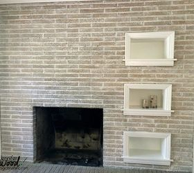 painted brick fireplace concrete masonry fireplaces mantels jennifer allwood