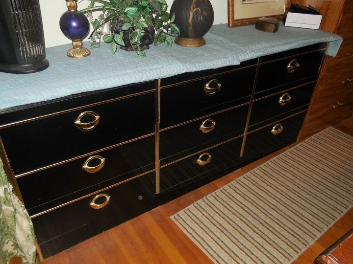 Q What Can I Do To Fix This Black Lacquered Dresser Painted Furniture