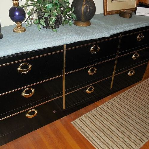 black lacquer paint for furniture. The Lines You\u0027re Seeing Are Gold Trim (I Think They\u0027re Plastic) And Metal Handles. Rest Is Black Lacqured Finish. Lacquer Paint For Furniture N