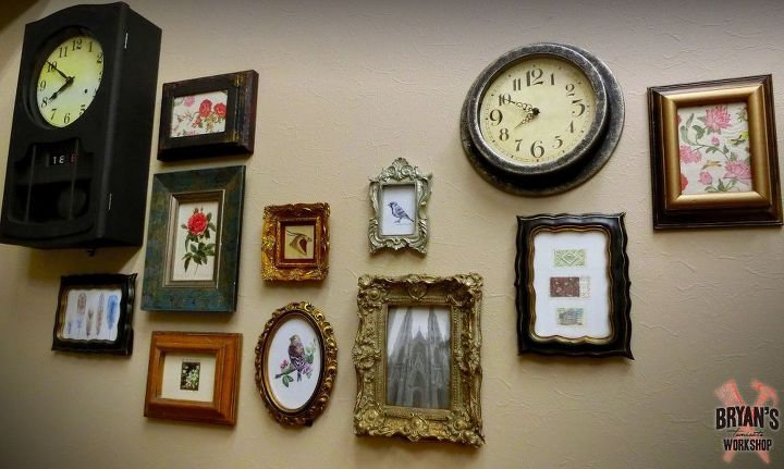 Turning Cheapo $1 Frames Into Chunky Vintage Looking Keepers! | Hometalk
