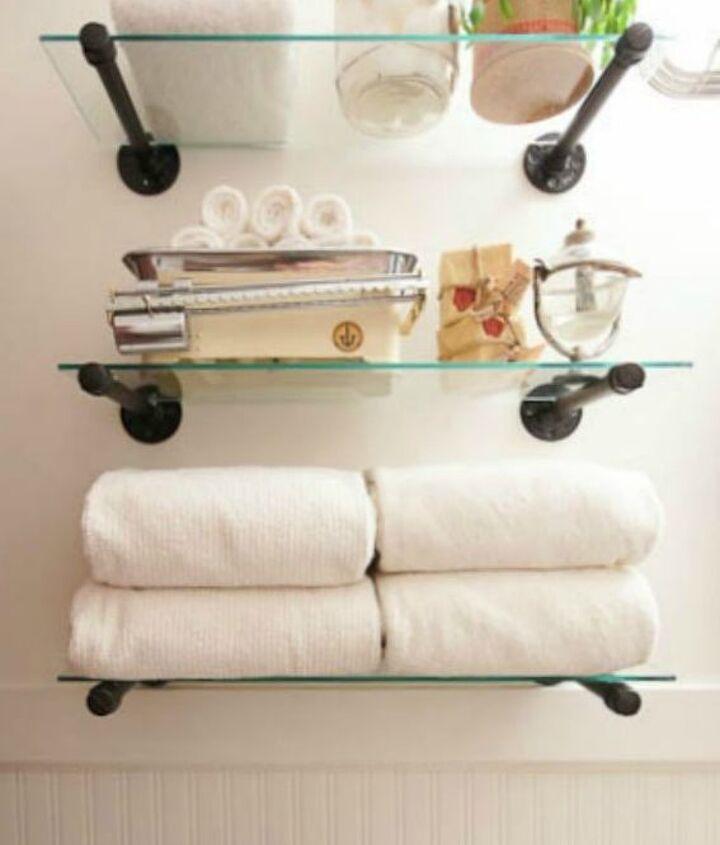 s 14 amazing ways brackets made homemade shelving fun, shelving ideas, Repurpose plumbing fixtures to fit shelves
