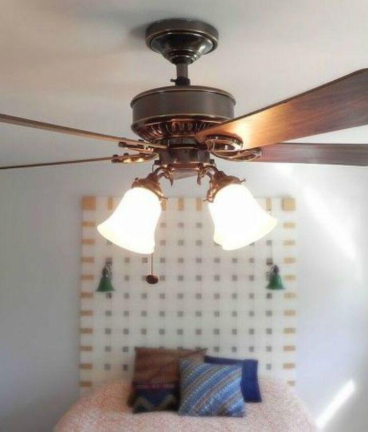s 14 amazing ways brackets made homemade shelving fun, shelving ideas, Re bracket an old fan to give it an upgrade