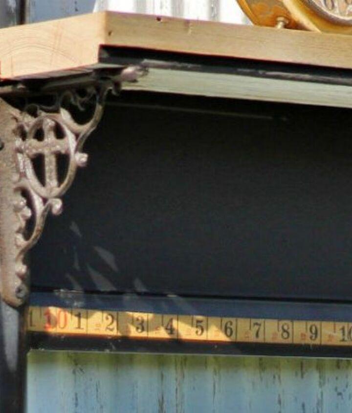 s 14 amazing ways brackets made homemade shelving fun, shelving ideas, Build a base for a rustic outdoor barn shelf