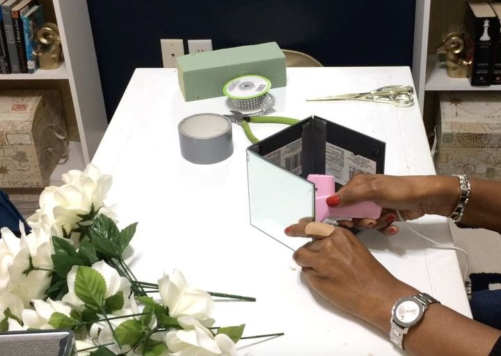 How To Make A Glam Mirror Box With Fl Arrangement Home Decor