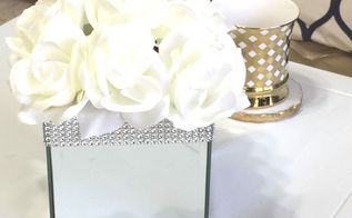 how to make a glam mirror box with floral arrangement, home decor, how to
