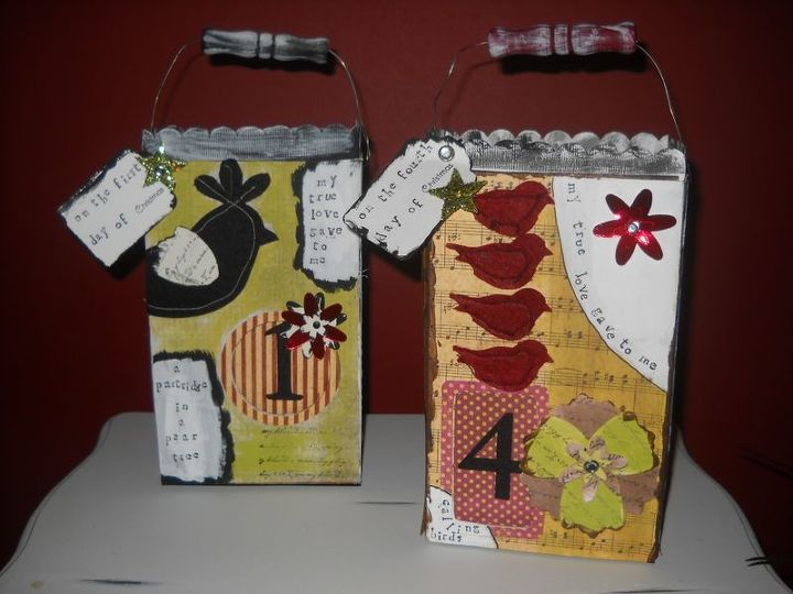 e crafternoons with cardboard recycled gift packages