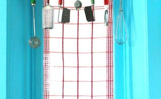 repurposed rolling pin window valance